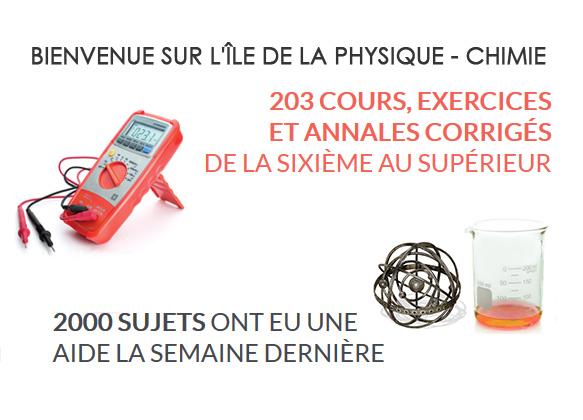 Île Physique : cours et exercices, forums...