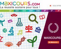 Maxicours : soutien scolaire sur Internet
